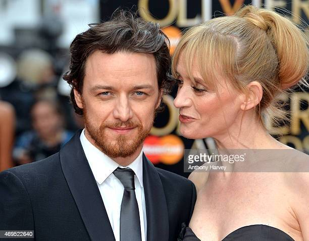 AnneMarie Duff and James McAvoy attend The Olivier Awards at The Royal Opera House on April 12 2015 in London England