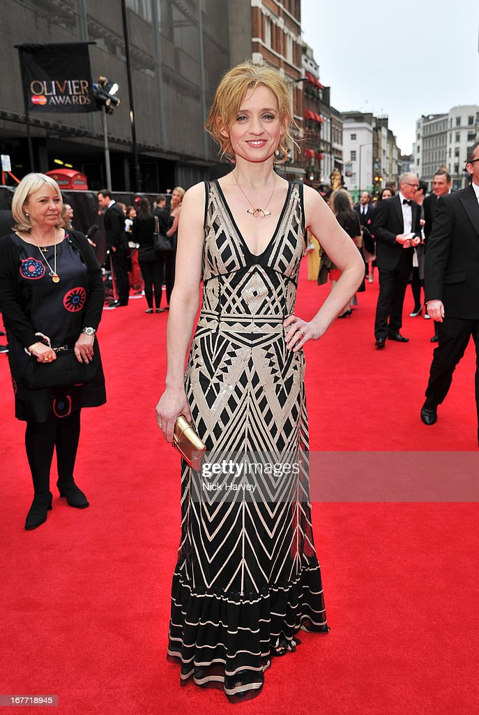 Anne-Marie Duff attends The Laurence Olivier Awards at The Royal Opera House on April 28, 2013 in London, England.