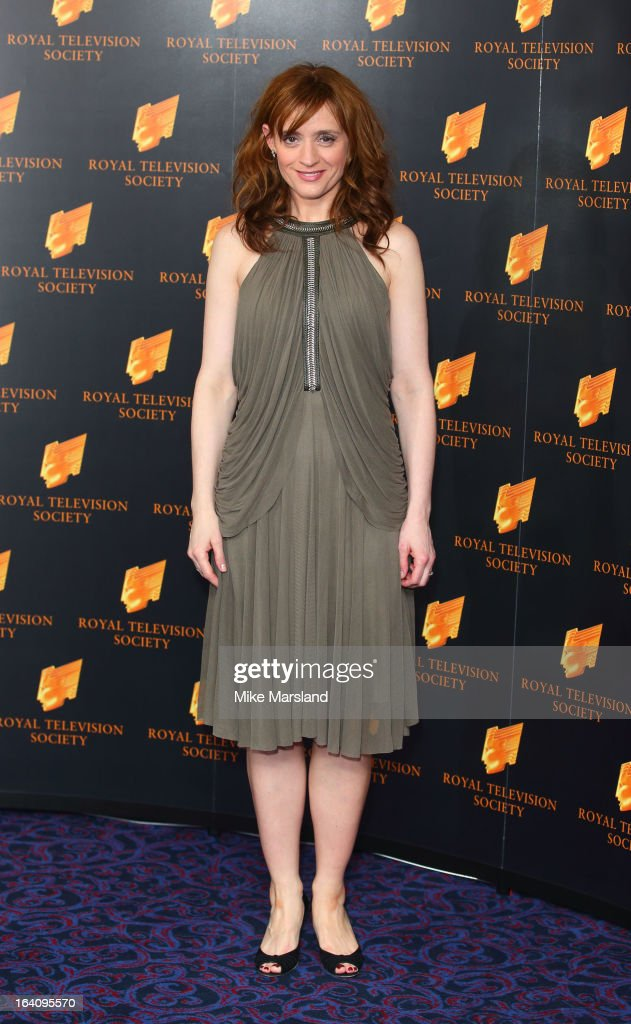 Anne-Marie Duff attends the RTS Programme Awards at Grosvenor House, on March 19, 2013 in London, England.