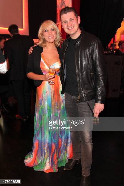 Annemarie Eilfeld and Basti attend the LEA Live Entertainment Award 2014 at Festhalle Frankfurt on March 11 2014 in Frankfurt am Main Germany