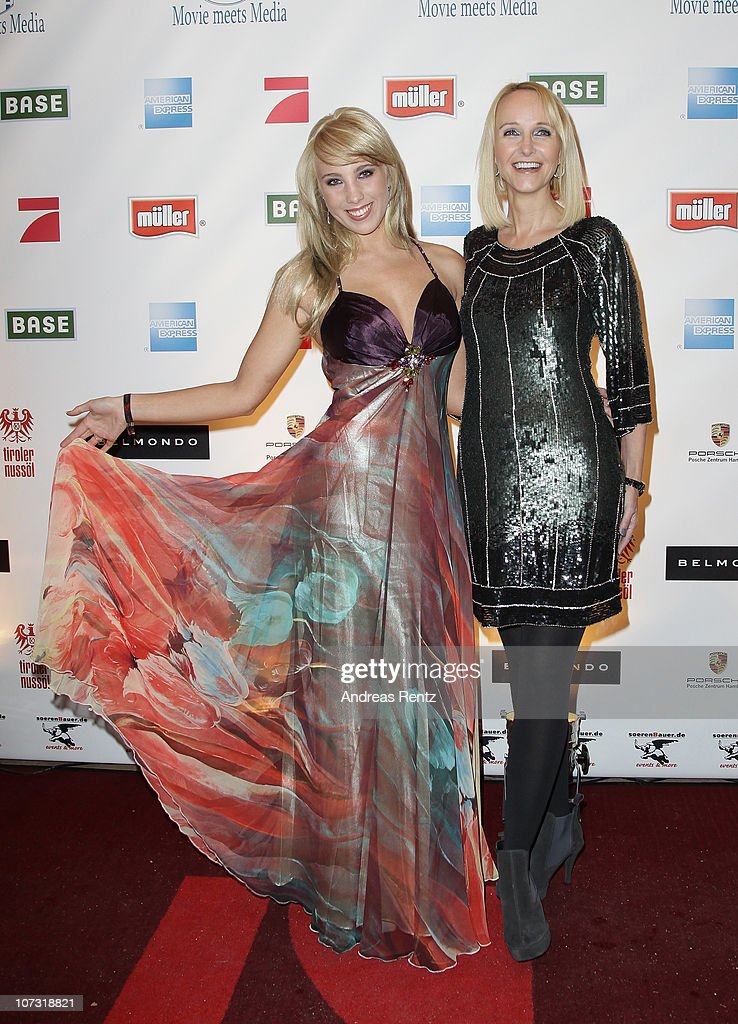 Annemarie Eilfeld and Kristina Bach attend the 'Movie meets Media' Night at Hotel Atlantic on December 3 2010 in Hamburg Germany