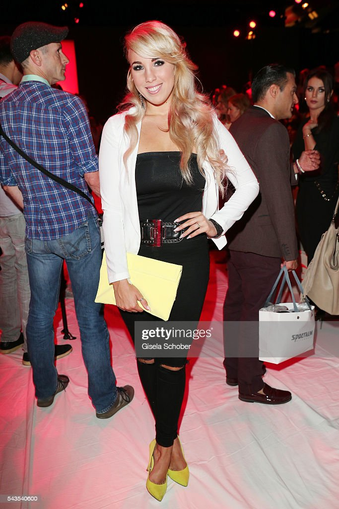 <a gi-track='captionPersonalityLinkClicked' href=/galleries/search?phrase=Annemarie+Eilfeld&family=editorial&specificpeople=5761972 ng-click='$event.stopPropagation()'>Annemarie Eilfeld</a> attends the Anja Gockel show during the Mercedes-Benz Fashion Week Berlin Spring/Summer 2017 at Erika Hess Eisstadion on June 29, 2016 in Berlin, Germany.