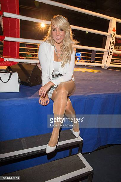 Annemarie Eilfeld attends the premiere for the film 'Southpaw' at Columbiahalle on August 16 2015 in Berlin Germany
