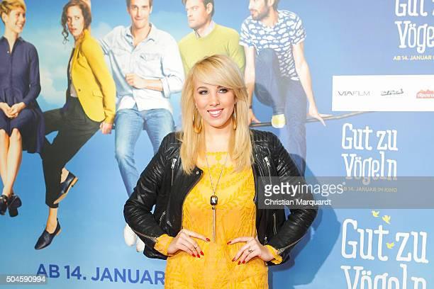Annemarie Eilfeld attends the premiere of the film 'Gut zu Voegeln' at Kino in der Kulturbrauerei on January 11 2016 in Berlin Germany