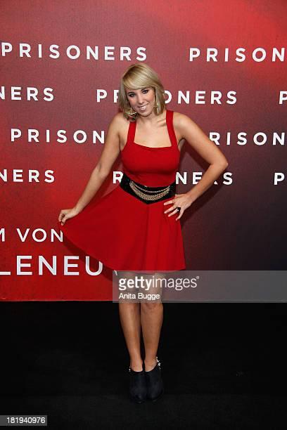 Annemarie Eilfeld attends the 'Prisoners' Germany Premiere at Sony Centre on September 26 2013 in Berlin Germany