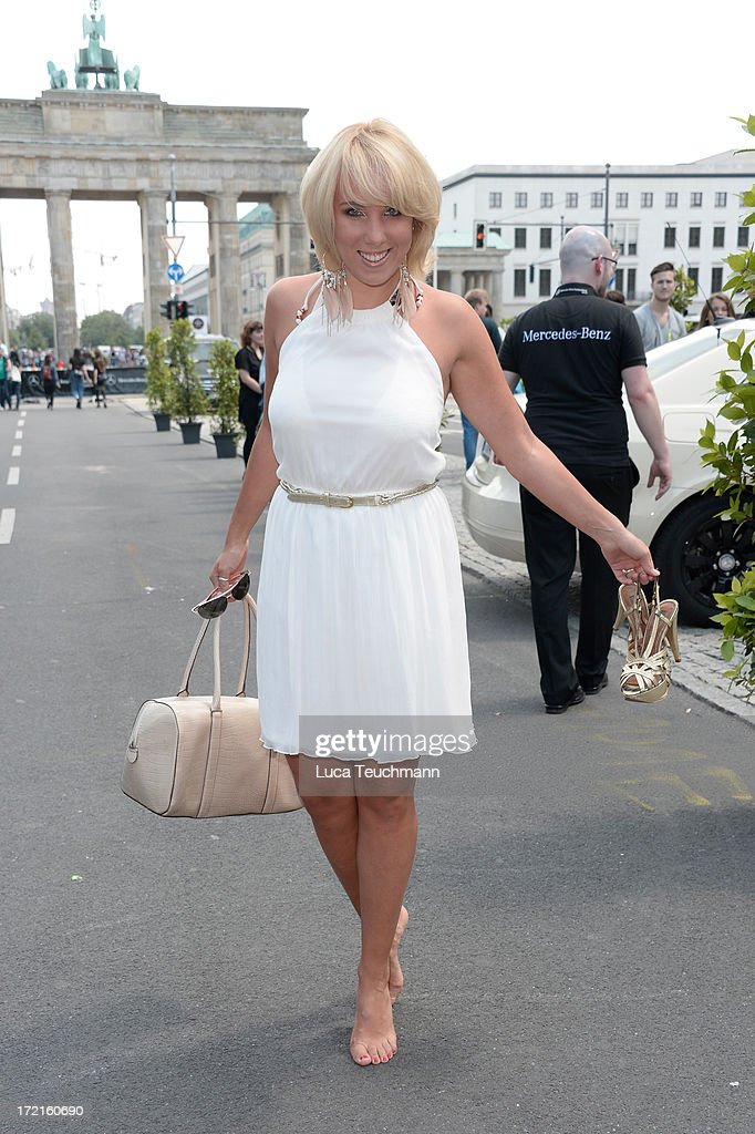 Annemarie Eilfeld attends the Rebekka Ruetz show during Mercedes-Benz Fashion Week Spring/Summer 2014 at Brandenburg Gate on July 2, 2013 in Berlin, Germany.