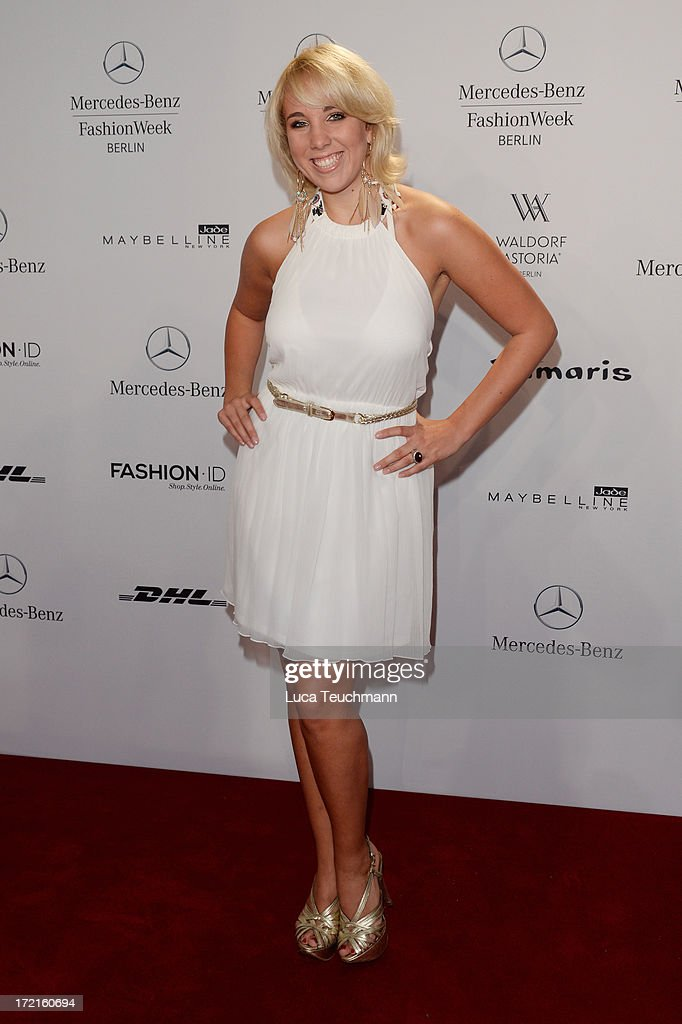 <a gi-track='captionPersonalityLinkClicked' href=/galleries/search?phrase=Annemarie+Eilfeld&family=editorial&specificpeople=5761972 ng-click='$event.stopPropagation()'>Annemarie Eilfeld</a> attends the Rebekka Ruetz show during Mercedes-Benz Fashion Week Spring/Summer 2014 at Brandenburg Gate on July 2, 2013 in Berlin, Germany.