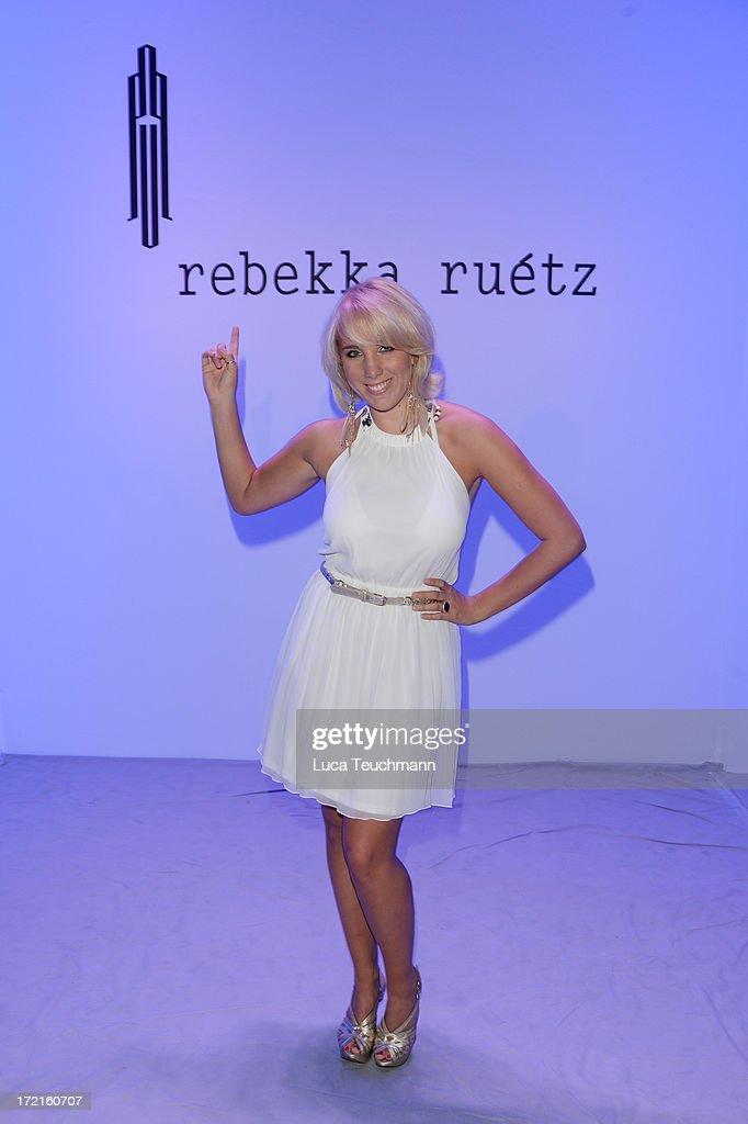 Annemarie Eilfeld attends the Rebekka Ruetz show during Mercedes-Benz Fashion Week Spring/Summer 2014 at Brandenburg Gate on July 2, 2013 in Berlin, Germany.