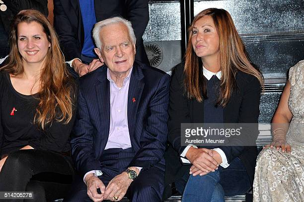 AnneMarie Gabelica Philippe Labro and Evelyne Thomas attend the Sidaction 2016 Launch party at Musee du Quai Branly on March 7 2016 in Paris France