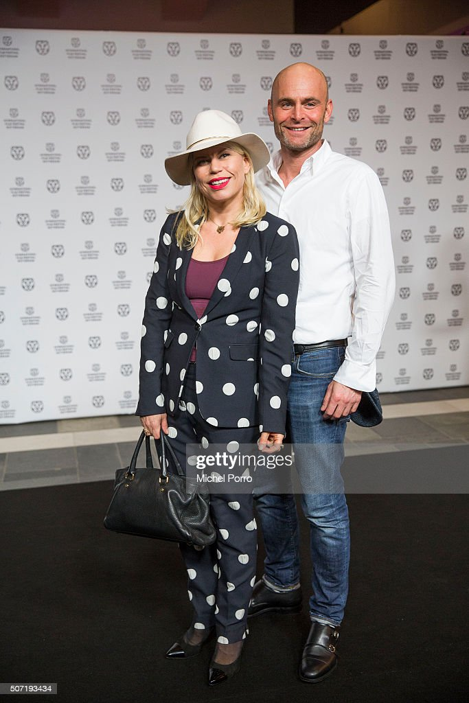 Anne-Marie Jung and Burt Rutteman attend the opening of the Rotterdam International Film Festival on January 27, 2016 in Rotterdam, Netherlands.
