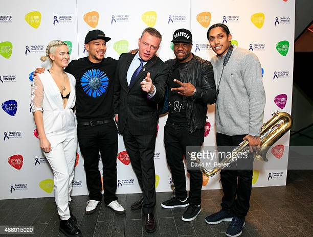 AnneMarie Keso Dryden Graham McPherson Dj Locksmith and Taurean Chagar of Rudimental attend 'An Evening With Suggs Friends' in aid of Pancreatic...