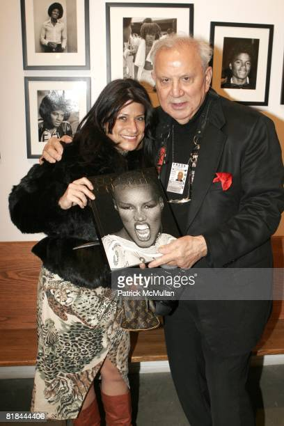 AnneMarie Martinez and Ron Galella attend Ron Galella Book Launch Party For Man in the Mirror Michael Jackson and Viva I'Italia at PowerHouse Arena...