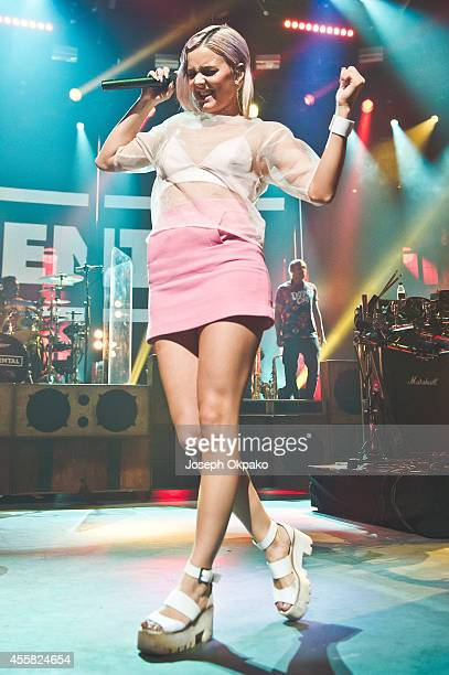 AnneMarie Nicholson of Rudimental performs on stage at the iTunes Festival at The Roundhouse on September 20 2014 in London United Kingdom