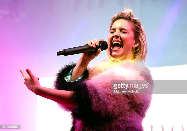 AnneMarie performs at Meadowhall Presents Christmas Live at Meadowhall Shopping Centre on November 3 2016 in Sheffield England