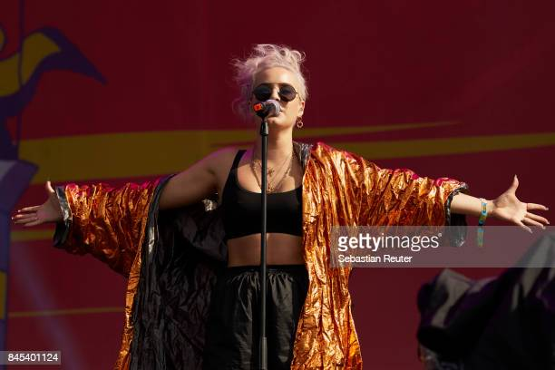 AnneMarie performs live on stage during the second day of the Lollapalooza Berlin music festival on September 10 2017 in DahlwitzHoppegarten Germany