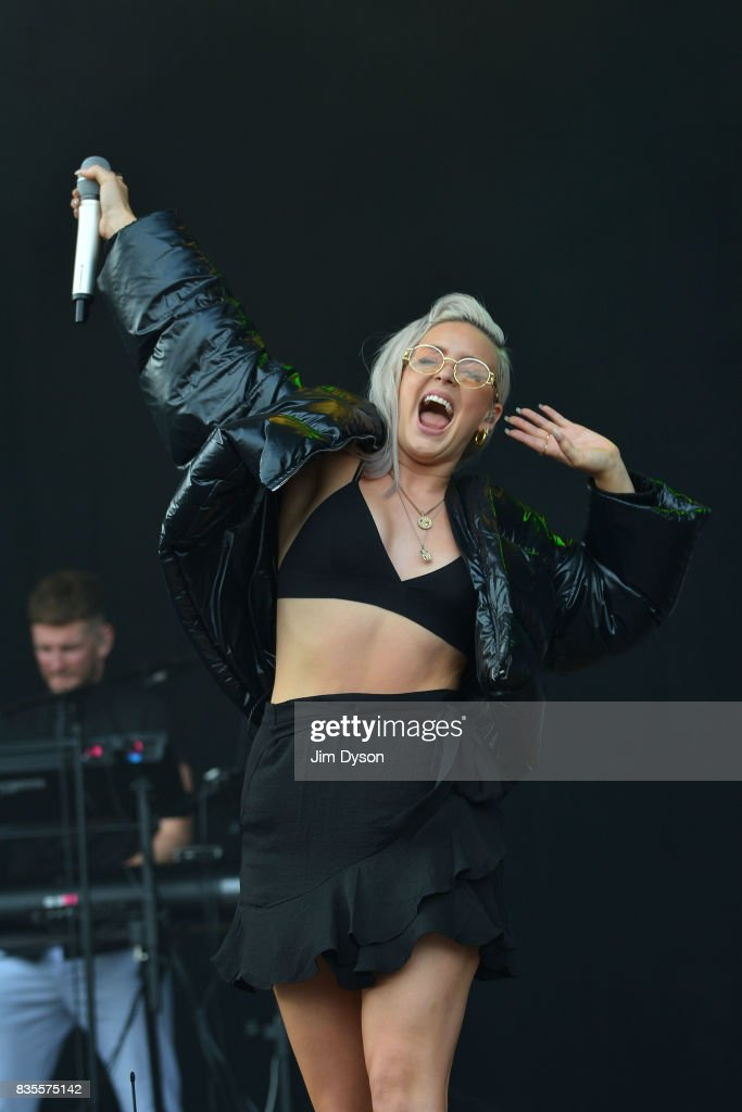 Anne-Marie performs live on stage during V Festival 2017 at Hylands Park on August 19, 2017 in Chelmsford, England.