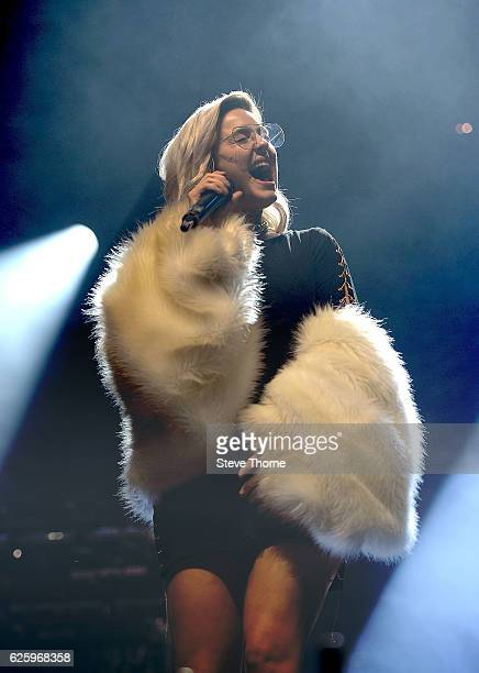 AnneMarie performs on stage during Free Radio Live 2016 at the Genting Arena on November 26 2016 in Birmingham United Kingdom