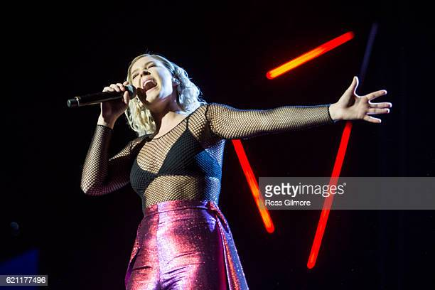 AnneMarie performs with Clean Bandit at the MOBO Awards show at The SSE Hydro on November 4 2016 in Glasgow Scotland