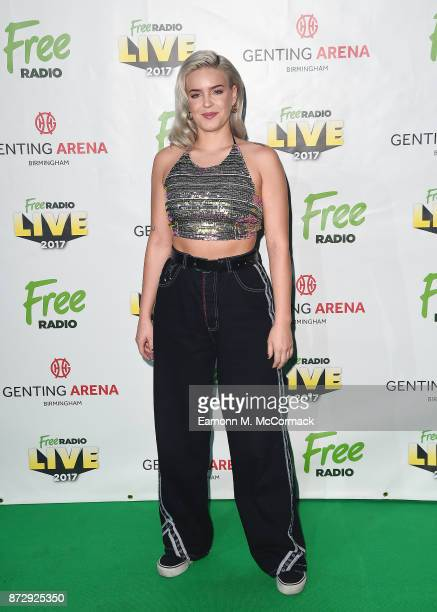 AnneMarie poses before performing during Free Radio Live held at Genting Arena on November 11 2017 in Birmingham England
