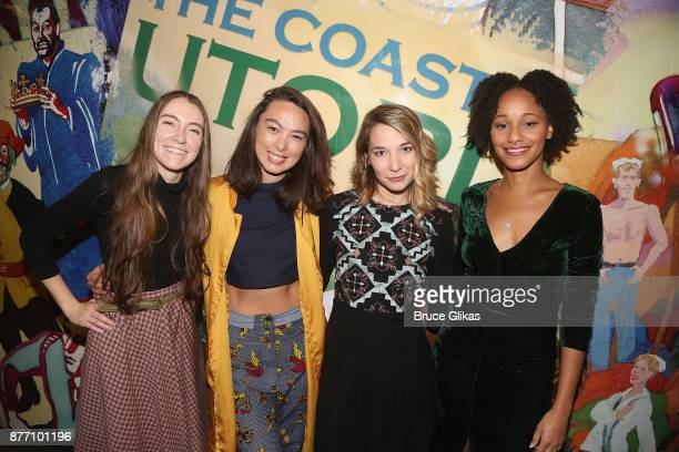 AnneMarie Trabolsi Lili Hokama Alyssa Kempinski and Laakan McHardypose at the Opening Night of Lincoln Center Theater's 'The Wolves' at The Mitzi E...