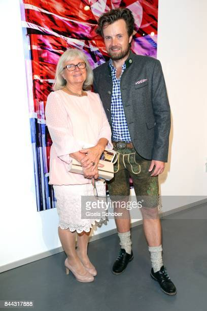 AnneMarie von Hassel mother of Michael von Hassel and Photographer Michael von Hassel during the 'Michael von Hassel' Exhibition Opening at 'Galerie...