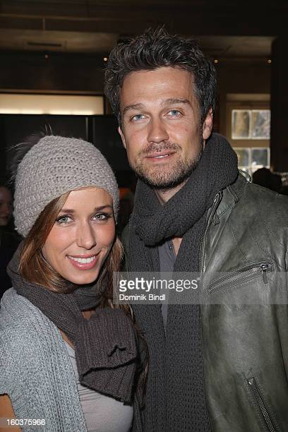 Annemarie Warnkross and Wayne Carpendale attend the 35 years anniversary of the tv show 'Soko 5113' on January 30 2013 in Munich Germany