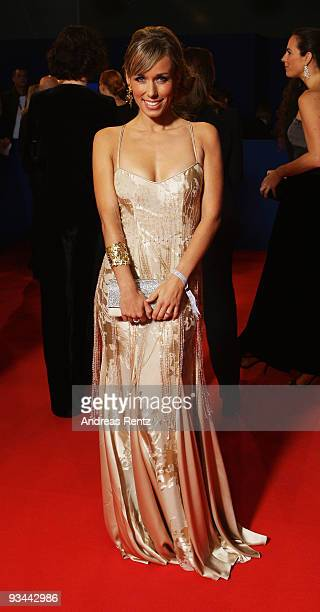 Annemarie Warnkross arrives to the Bambi Awards 2009 at the Metropolis Hall at the Filmpark Babelsberg on November 26 2009 in Potsdam Germany