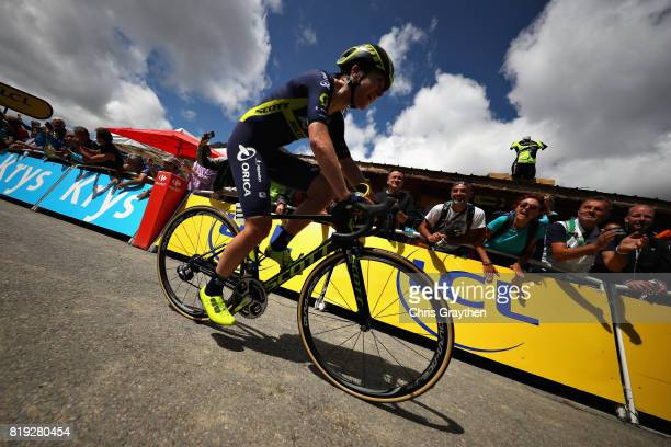 Annemiek Van Vleuten of Netherlands riding for Team Orica Scott rides on the first stage of the 4th La Course by Tour de France a 675km stage from...