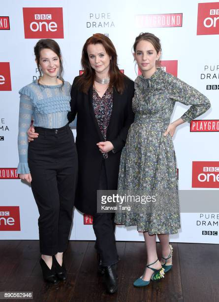 Annes Elwy Emily Watson and Maya Hawke attend the 'Little Women' special screening at The Soho Hotel on December 11 2017 in London England