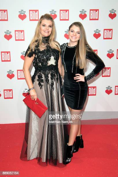 AnneSophie Briest and her daughter Faye Montana arrive at the Ein Herz Fuer Kinder Gala at Studio Berlin Adlershof on December 9 2017 in Berlin...