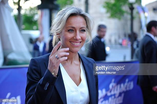 AnneSophie Lapix attends the Bon Retablissement Paris Premiere during Day 6 of the Champs Elysees Film Festival on June 16 2014 in Paris France