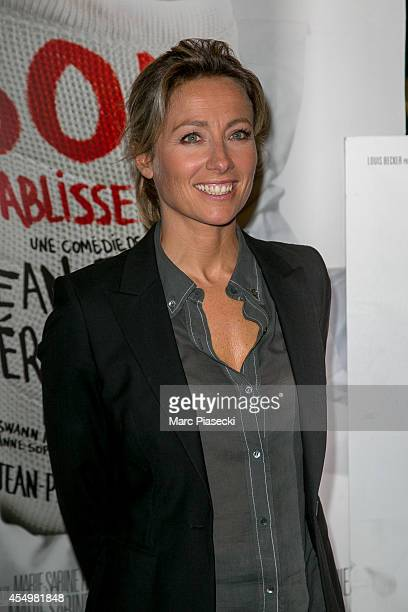 AnneSophie Lapix attends the 'Bon Retablissement' Premiere at Theatre Edouard VII on September 8 2014 in Paris France
