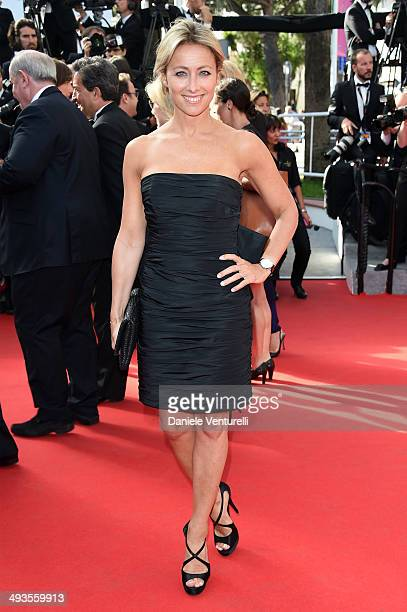 AnneSophie Lapix attends the Closing Ceremony and 'A Fistful of Dollars' Screening during the 67th Annual Cannes Film Festival on May 24 2014 in...