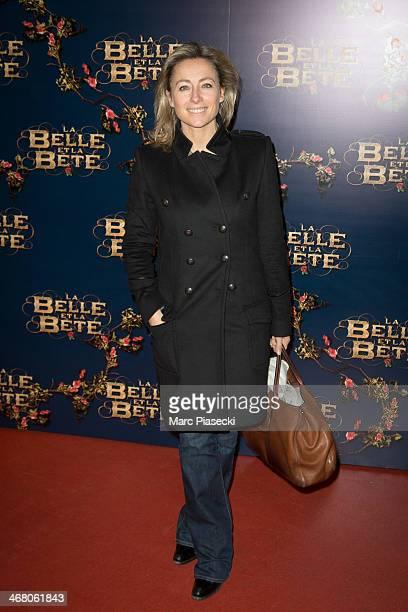 AnneSophie Lapix attends the 'La Belle la bete' Paris Premiere at Gaumont Opera on February 9 2014 in Paris France