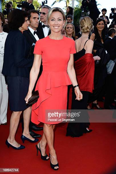 AnneSophie Lapix attends the Premiere of 'Le Passe' during The 66th Annual Cannes Film Festival at Palais des Festivals on May 17 2013 in Cannes...
