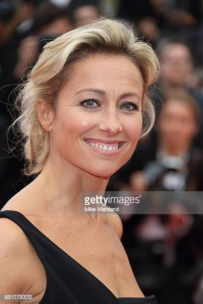 AnneSophie Lapix attends the screening of 'Slack Bay ' at the annual 69th Cannes Film Festival at Palais des Festivals on May 13 2016 in Cannes France