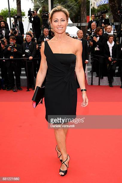 AnneSophie Lapix attends the 'Slack Bay ' premiere during the 69th annual Cannes Film Festival at the Palais des Festivals on May 13 2016 in Cannes...