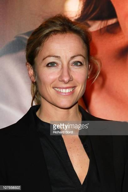 AnneSophie Lapix attends 'The Tourist' Paris Premiere at Cinema Gaumont Marignan on December 13 2010 in Paris France