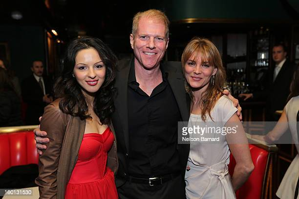 Annet Mahendru and Noah Emmerich attend FX's 'The Americans' Season One New York Premiere After Party at Russian Tea Room on January 26 2013 in New...
