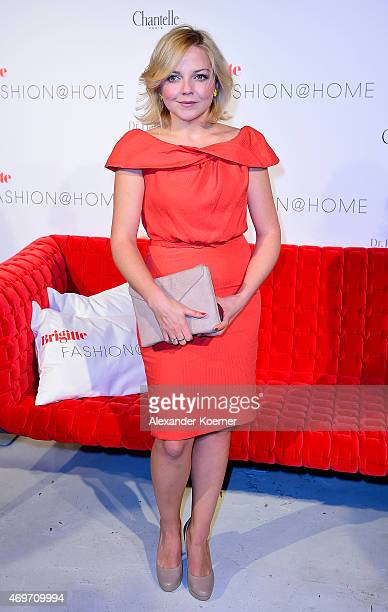 Annett Louisan attends the Brigitte Fashion @Home event at Play Studio on April 14 2015 in Hamburg Germany