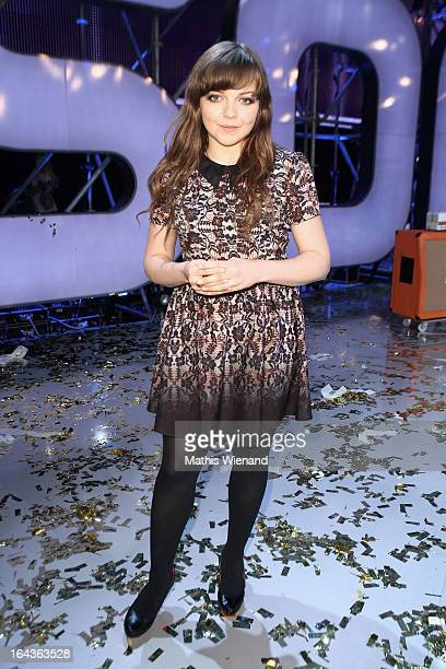 Annett Louisan attends the Final of 'Dein Song' of the TV Station KIKA on March 22 2013 in Huerth Germany