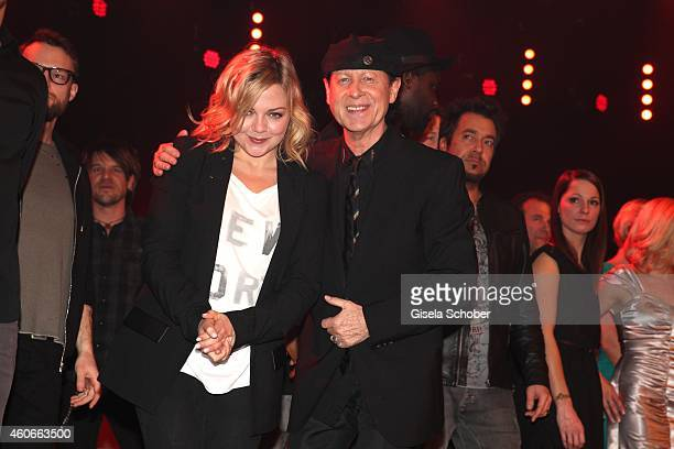 Annett Louisan Klaus Meine during the 20th Annual Jose Carreras Gala on December 18 2014 in Rust Germany