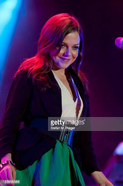 Annett Louisan performs on stage at Kleine Olympiahalle on November 21 2011 in Munich Germany