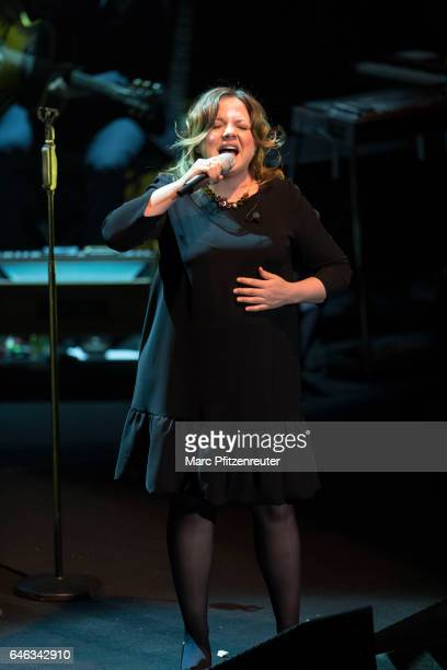 Annett Louisan performs onstage at the Philharmonic Hall on February 28 2017 in Cologne Germany