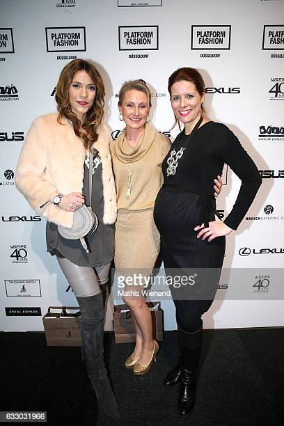 Annett Moeller Alexa Iwan and Miriam Lange attend the Thomas Rath after party during Platform Fashion January 2017 at Areal Boehler on January 29...