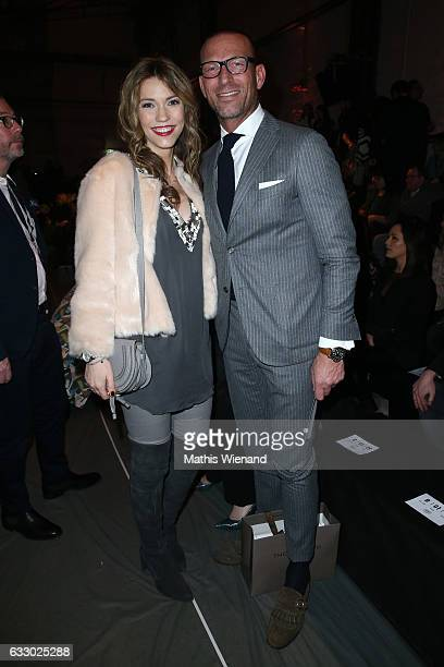 Annett Moeller and Andreas Rebbelmund attend the Thomas Rath show during Platform Fashion January 2017 at Areal Boehler on January 29 2017 in...