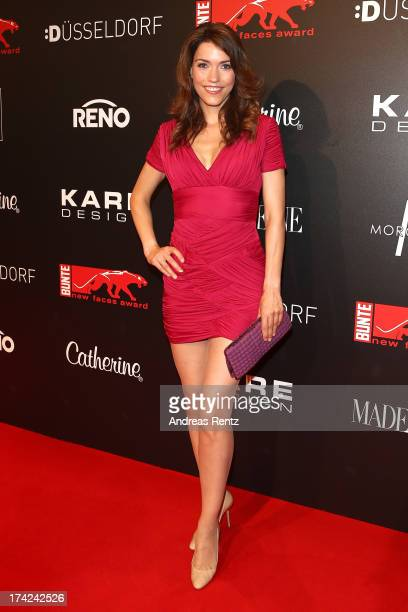 Annett Moeller attends KARE Design at the New Faces Award Fashion 2013 at Rheinterrasse on July 22 2013 in Duesseldorf Germany