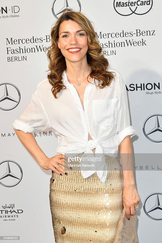 Annett Moeller attends the Guido Maria Kretschmer show during the Mercedes-Benz Fashion Week Berlin Spring/Summer 2017 at Erika Hess Eisstadion on June 29, 2016 in Berlin, Germany.