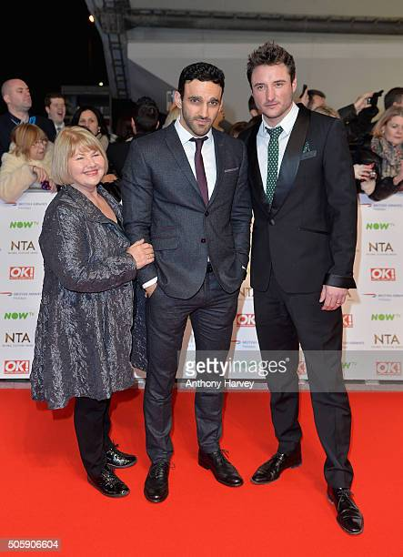 Annette Badlan Davood Ghadami and James Bye attend the 21st National Television Awards at The O2 Arena on January 20 2016 in London England