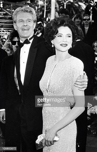 Annette Bening and Ed Begley Jr during 63rd Annual Academy Awards at Shrine Auditorium in Los Angeles California United States